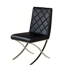 Casabianca LOFT Black Eco-leather Dining Chair - CB-922-BL-Dining Chairs-HipBeds.com