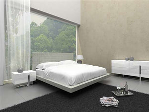 Casabianca ZACK Gray Eco-leather Full Bed - CB-C1301-FG-Platform Beds-HipBeds.com