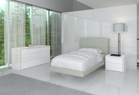 Casabianca ZACK Gray Eco-leather XL Twin Bed - CB-C1301-TG-Platform Beds-HipBeds.com