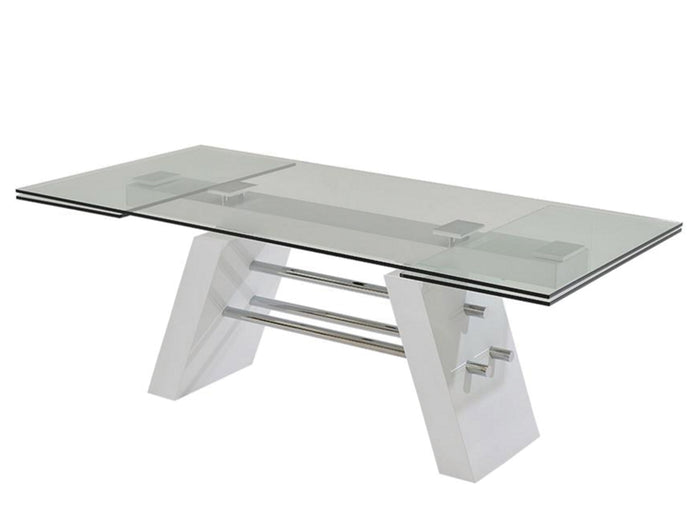 Casabianca EVOLUTION  High Gloss White Lacquer Dining Table - CB-D2046XL