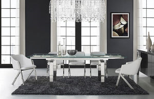 Casabianca CLOUD Stainless Steel Dining Table - CB-D2048-SS-Dining Tables-HipBeds.com