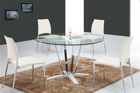 Casabianca TREVI High Gloss White Lacquer Dining Table-Dining Tables-HipBeds.com
