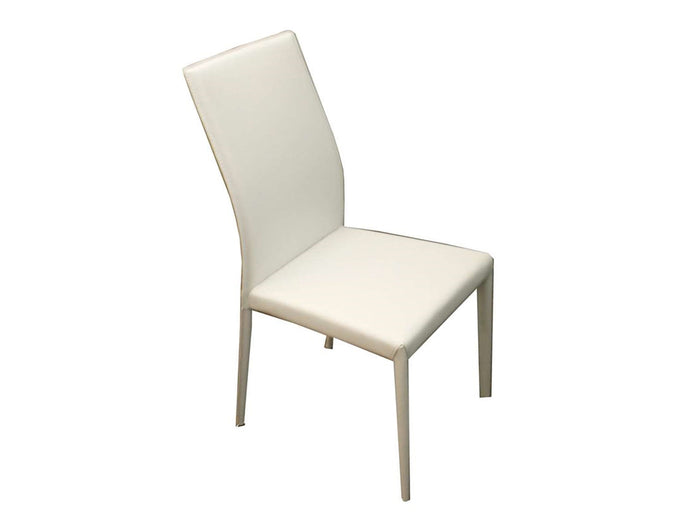 Casabianca HERITAGE White Eco-Leather Dining Chair - CB-F3101-W