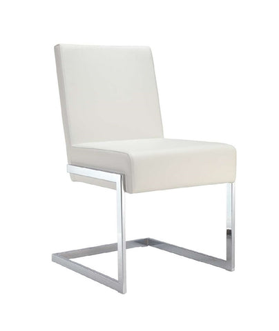 Casabianca FONTANA White Eco-Leather Dining Chair - CB-F3131-W-Dining Chairs-HipBeds.com
