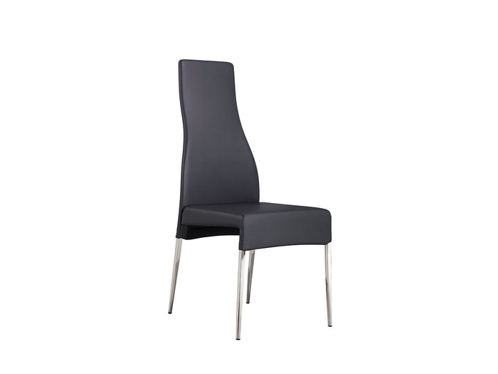 Casabianca VALENTINO Gray Eco-leather Dining Chair - CB-F3151-G