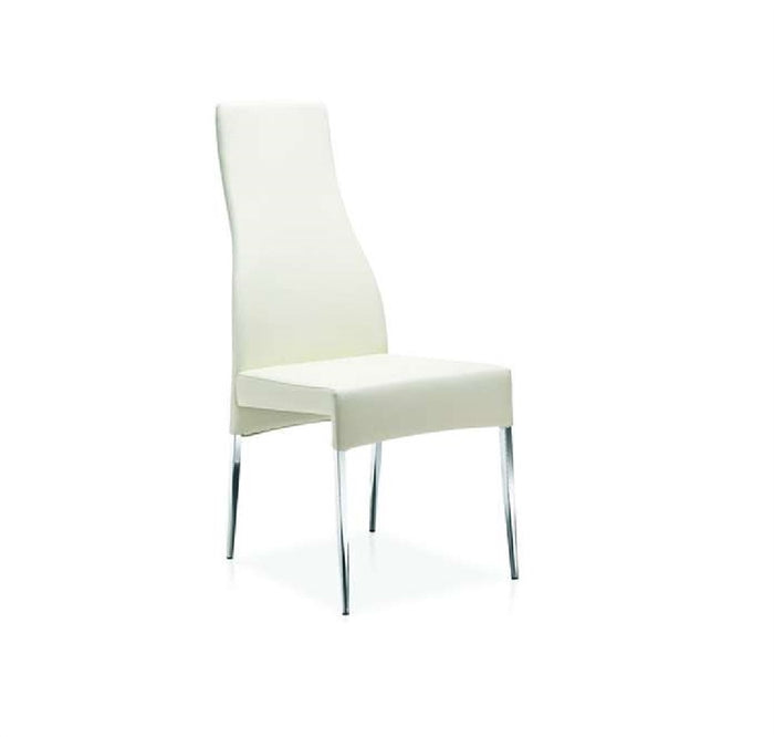 Casabianca VALENTINO White Eco-Leather Dining Chair - CB-F3151-W
