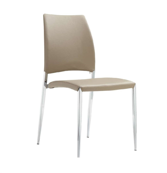 Casabianca ROMANCE Taupe Eco-leather Dining Chair - CB-F3157-TAUPE