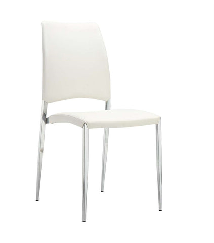 Casabianca ROMANCE White Eco-Leather Dining Chair-Dining Chairs-HipBeds.com