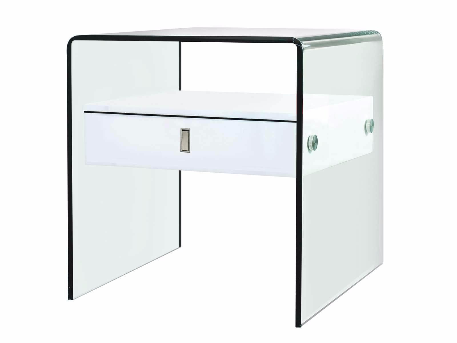 ... Casabianca BARI High Gloss White Lacquer Nightstand / End Table    CB J052 Nightstands