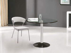 Casabianca FORTE Chrome / Clear Glass Dining Table - CB-T016-Dining Tables-HipBeds.com