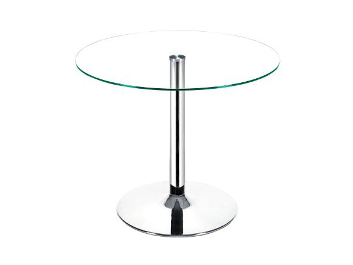 Casabianca FORTE Chrome / Clear Glass Dining Table - CB-T016