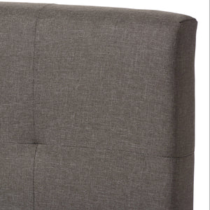 Baxton Studio Brookfield Grey Grid-tufting King Size Bed - 3