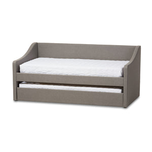 Baxton Studio Barnstorm Grey Daybed with Guest Trundle Bed - 1