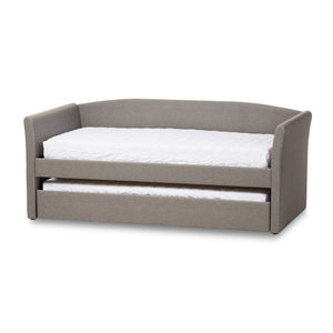Baxton Studio Camino Grey Daybed with Guest Trundle Bed - 1