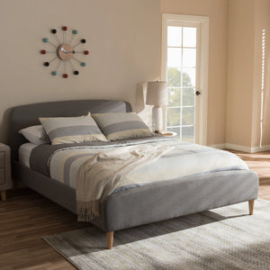 Baxton Studio Mia Light Grey Full Size Platform Bed-Platform Beds-HipBeds.com