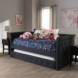 Baxton Studio Alena Grey Daybed with Trundle-Daybeds-HipBeds.com