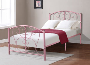 Donco Kids Twin Bed Light Pink CS3008LP-Panel Beds-HipBeds.com