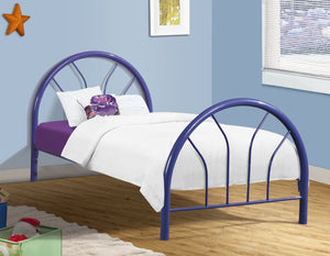 Donco Kids Twin Hoop Bed Blue CS3009BL-Panel Beds-HipBeds.com