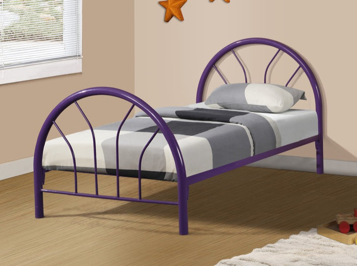 Donco Kids Twin Hoop Bed Purple CS3009PU