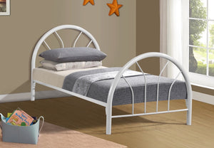 Donco Kids Twin Hoop Bed White CS3009WH-Panel Beds-HipBeds.com