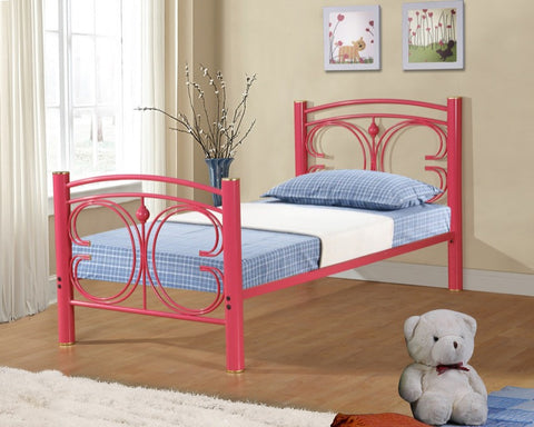 Donco Kids Twin Bed Hot Pink CS3053THP-Panel Beds-HipBeds.com