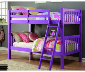 Donco Kids T/T Grapevine Bunk Bed Grape DN8060TTG-Bunk Beds-HipBeds.com