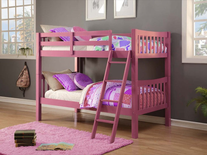 Donco Kids Twin/Twin Mission Bunk Bed Pink 9070-TTP