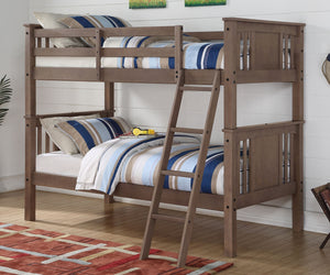 Donco Kids T/T Princeton Bunk Bed Slate Grey 316TTSG-Bunk Beds-HipBeds.com