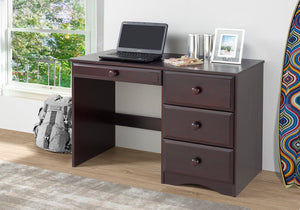 Camaflexi Table - Essentials Writing Desk with Four Drawers - Cappuccino Finish - 41122-Table-HipBeds.com