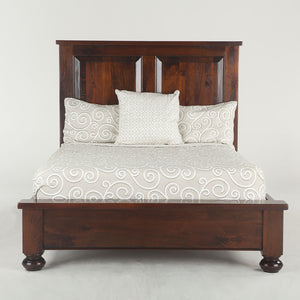 Home Trends & Design Colonial Plantation Bed, King, Round Leg, Light - FCP-PBKRLL-Panel Beds-HipBeds.com
