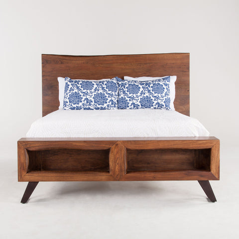 Home Trends & Design London Loft Queen Bed, Walnut - FLL-PBQWN-Panel Beds-HipBeds.com