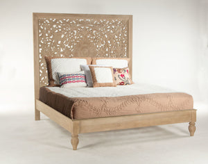 Home Trends & Design Taj King Bed - FTJ-PBKWW-Panel Beds-HipBeds.com