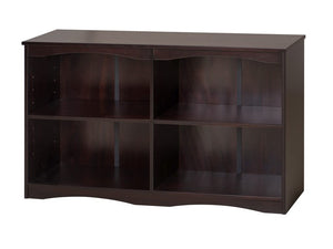 "Camaflexi Bookcase - Essentials Wooden Bookcase 51"" Wide - Cappuccino Finish - 4192-Bookcase-HipBeds.com"