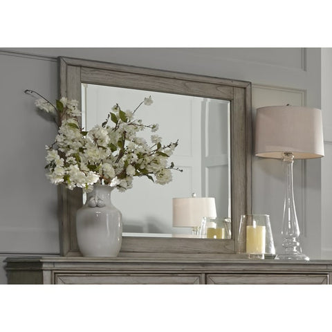 Liberty Furniture Grayton Grove Driftwood Framed Mirror - 573-BR51-Mirrors-HipBeds.com