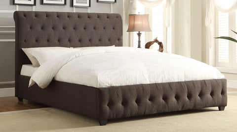Homelegance Baldwyn Upholstered Bed - Dark Grey - 5789N-1-Platform Beds-HipBeds.com