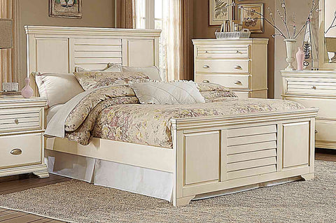 Homelegance Laurinda Bed - Antique White - 1846-1-Platform Beds-HipBeds.com