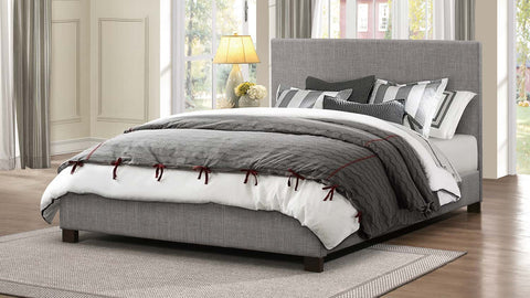 Homelegance Chasin Upholstered Platform Bed - Grey-1896N-1-Platform Beds-HipBeds.com