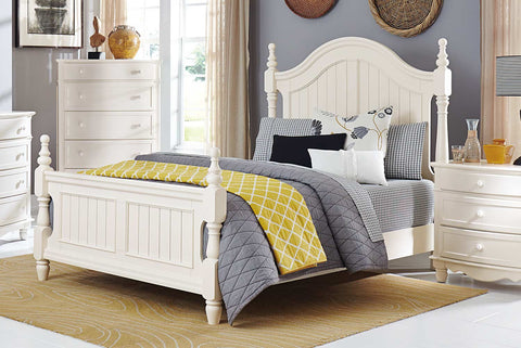 Homelegance Clementine Bed - White - 1799-1-Panel Beds-HipBeds.com