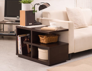 Furniture Of America Haydon Multi Level End Table Walnut-End Tables-HipBeds.com