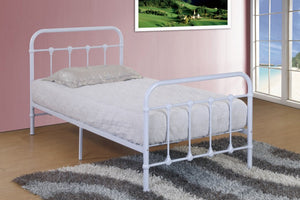 Donco Kids Twin Bed White HS-1188SWH-Panel Beds-HipBeds.com