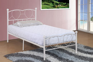 Donco Kids Twin Bed White HS-1212SWH-Panel Beds-HipBeds.com