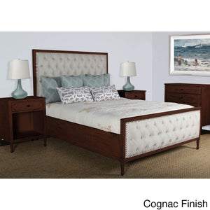 Lennox Design Hannah Tufted Bedroom Set, King - Cognac-Platform Beds-HipBeds.com