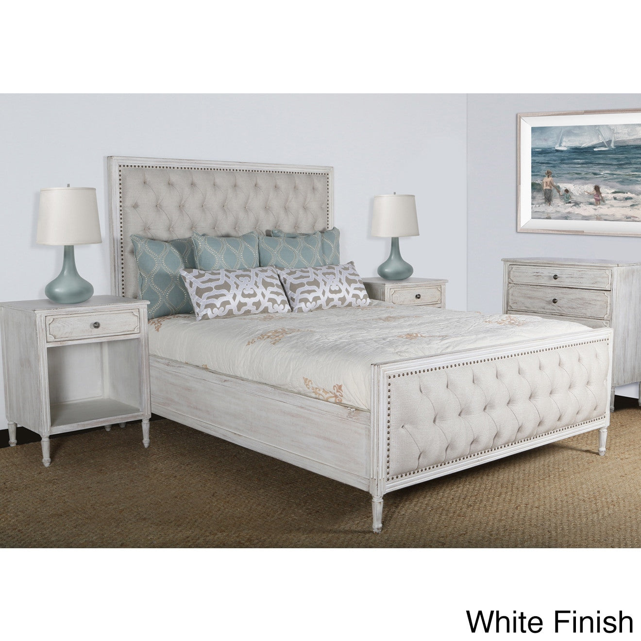 Tufted Bedroom Sets | Lennox Design Hannah Tufted Bedroom Set King White