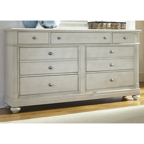Liberty Furniture Harbor Dove Gray Cottage 7-Drawer Dresser - 731-BR31-Dressers-HipBeds.com