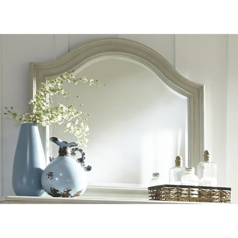Liberty Furniture Harbor Dove Gray Cottage Arch Mirror - 731-BR51-Mirrors-HipBeds.com