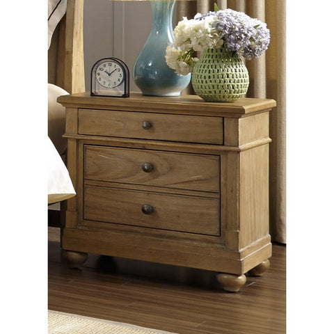 Liberty Furniture Harbor Sand Cottage 2-Drawer Nightstand - 531-BR61-Nightstands-HipBeds.com