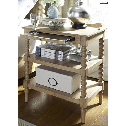 Liberty Furniture Harbor Sand Cottage 2-Shelf Open Nightstand - 531-BR62-Nightstands-HipBeds.com
