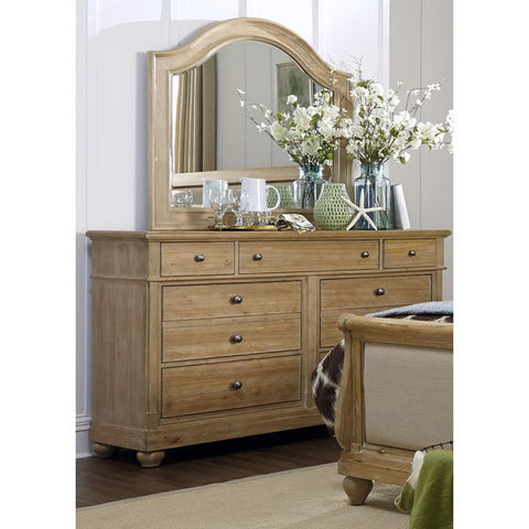 Liberty Furniture Harbor Sand Cottage 7-Drawer Dresser - 531-BR31-Dressers-HipBeds.com