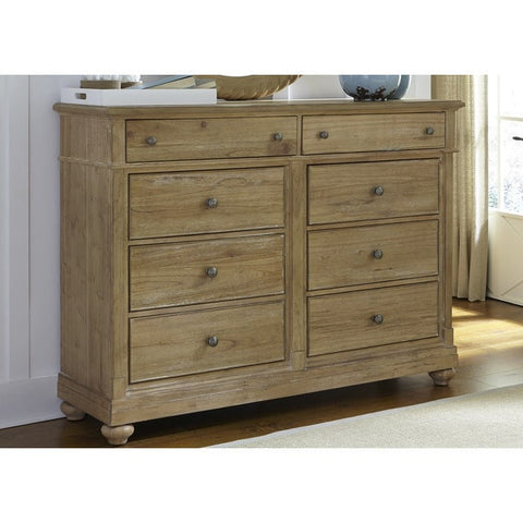 Liberty Furniture Harbor Sand Cottage 8-Drawer Bureau - 531-BR32-Chests-HipBeds.com