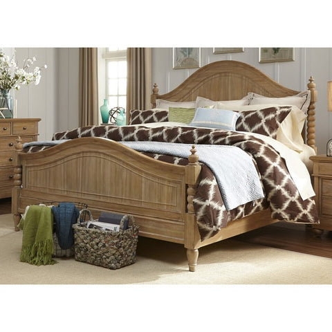 Liberty Furniture Harbor Sand Cottage Twist Spindle Poster Bed - 531-BR-XPS-Poster Beds-HipBeds.com
